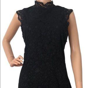 H&M Gold Label Black Lace Cocktail Dress